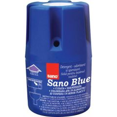 Odorizant solid pentru bazin WC, 150 gr., SANO Blue Flash