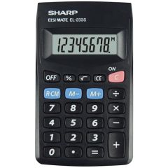 Calculator de buzunar,  8 digits, 103 x 60 x  8 mm, SHARP EL-233SBBK - negru