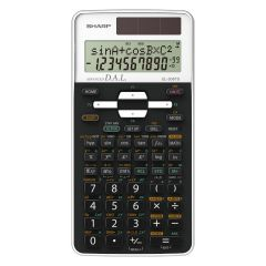 Calculator stiintific, 12 digits, 470 functiuni, 161x80x15 mm, dual power, SHARP EL-506TSWH - alb