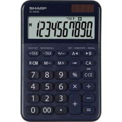 Calculator de birou, 10 digits, 149 x 100 x 27 mm, dual power, SHARP EL-M335BBL - bleumarin