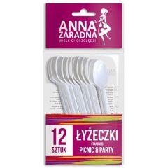 Lingurite plastic, 12 buc/set, Anna Zaradna