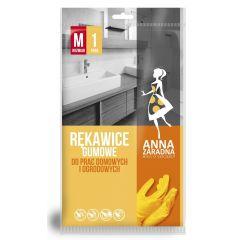 Manusi cauciucate, uz casnic si gradina, 1 pereche/set, Anna Zaradna - verzi - marime M
