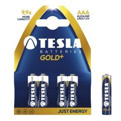 Baterii super alkaline LR03, AAA, 4 buc/set, Tesla Gold - A1099137001
