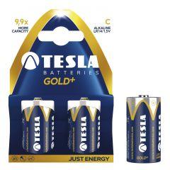 Baterii super alkaline R14, 2 buc/set, Tesla Gold - A1099137021
