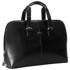Geanta dama, din piele neagra, pentru laptop, 42 x 30 x 12cm, TONY PEROTTI - Versilia Collection