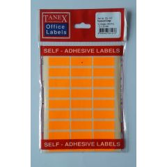 Etichete autoadezive color, 12 x 30 mm, 300 buc/set, TANEX - orange fluorescent
