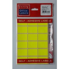 Etichete autoadezive color, 22 x 32 mm, 180 buc/set, TANEX - galben fluorescent