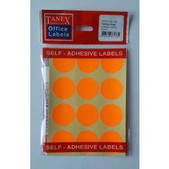 Etichete autoadezive color, D32 mm, 60 buc/set, TANEX - orange