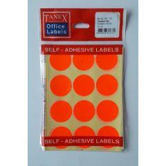 Etichete autoadezive color, D32 mm, 60 buc/set, TANEX - rosu