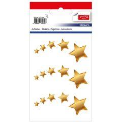 Stickere decorative, 15 buc/fila, 2 file/set, TANEX Kids - stelute diverse marimi - aurii