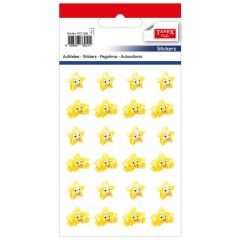 Stickere decorative, 24 buc/fila, 2 file/set, TANEX Kids - stelute cu chip - galbene