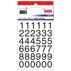 Etichete cu cifre, 0-9, 15 x 15 mm, 72buc/set, TANEX