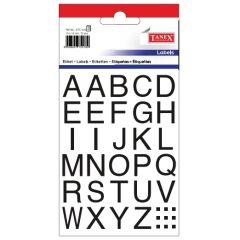 Etichete cu litere, A-Z, 15 x 15 mm, 72buc/set, TANEX