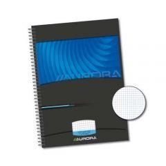 Caiet cu spirala, A4, 72 file - 90g/mp, coperti carton rigid, AURORA Mano - matematica