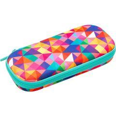 Penar cu fermoar, ZIP..IT Colorz box - triunghiuri culori asortate - EAN 7290103196851