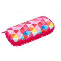 Penar cu fermoar, ZIPIT Colorz box - triunghiuri roz - EAN 7290103196844