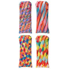 Clip-strip 8 penare cu fermoar, ZIPIT Colorz - 2 x 4 culori asortate - EAN 7290106143104