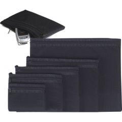 Buzunar buretat A7, cu fermoar textil negru, EXITON