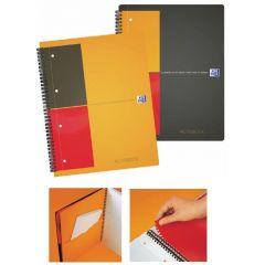 Caiet cu spirala A5+, OXFORD Int. Activebook, 80 file-80g/mp, Scribzee, 10 perf, coperta PP-mate
