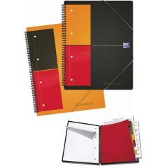 Caiet cu spirala A5+, OXFORD Int. Meetingbook, 80 file-80g/mp, Scribzee, 10 perf, coperta PP-dictand