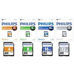 Card memorie SDHC, clasa 10, PHILIPS -  8GB