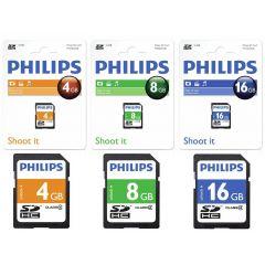 Card memorie SDHC, clasa  4, PHILIPS - 16GB