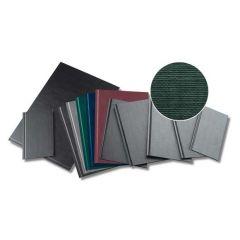 Coperti rigide A4, structura panzata, 20 buc/set, Metal-BIND OPUS Classic - verde