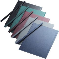 Sina metalica structura panzata, A4,  15-35 pag.( 5 mm) 10 buc/set, Metal -BIND OPUS - albastru
