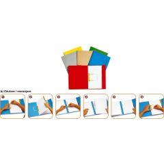 Dosar carton color cu alonja arhivare de mare capacitate, JALEMA Secolor - galben