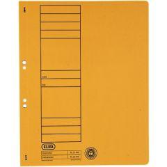 Dosar carton cu capse 1/1  ELBA - galben