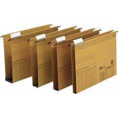 Dosar suspendabil cu burduf 40mm , carton 320g/mp, bagheta metalica, ELBA Vertic - kraft