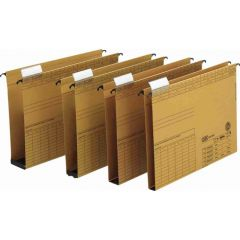 Dosar suspendabil cu burduf 60mm , carton 320g/mp, bagheta metalica, ELBA Vertic - kraft