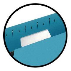 Etichete albe pe format A4, microperforate, pentru dosare suspendate, 10coli/set, ELBA