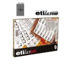 Etichete autoadezive 161/A4, 25 x 12 mm, 100 coli/top - colturi rotunjite, ETILASCOP - albe