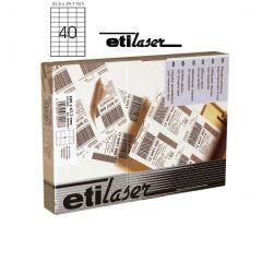 Etichete autoadezive  40/A4, 52,5 x 29,7 mm, 200 coli/top, ETILASER - albe