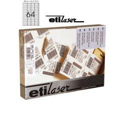 Etichete autoadezive  64/A4, 48,3 x 16,9 mm, 200 coli/top, ETILASER - albe