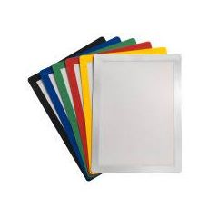 Buzunar magnetic pentru documente A4, cu rama color, 2 buc/set, JALEMA - rama gri