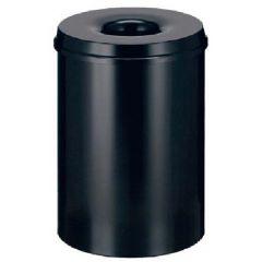 Cos metalic cu capac antifoc, pentru hartii, 50 litri, VEPA BINS - rosu/negru