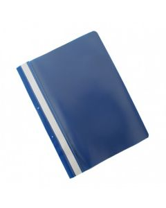 Dosar plastic PP cu sina, cu gauri, grosime 100/170 microni, 50 buc/set, Office Products - bleumarin