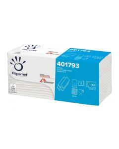Servetele pliate Z albe 2 straturi, 23x23.5cm, 143buc/pachet, Papernet