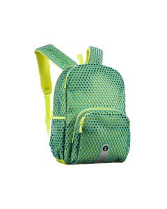Rucsac ZIPIT Mesh Light Blue & Green, cu buzunare laterale - EAN 7290106148451
