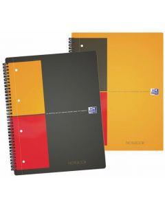 Caiet cu spirala A4+, OXFORD Int. Notebook, 80 file-80g/mp, Scribzee, coperta carton rigid -mate
