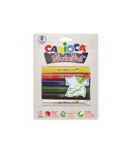 Vopsea pentru textile, rezistanta la spalare, 6 culori/blister, CARIOCA Fabric Paint - Sleek