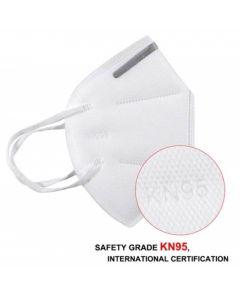 Masca respiratorie cu filtru de protectie KN95, FFP2, 10 buc/set - alba