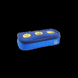 Penar rectangular neechipat, cu fermoar, LEGO V-Line - design Faces Blue