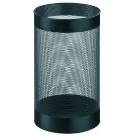 Cos metalic cu perforatii, forma rotunda, 15 litri, ALCO - negru