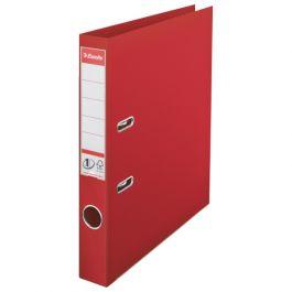 Biblioraft ESSELTE No. 1 Power, A4, plastifiat PP/PP, margine metalica, 50 mm - rosu