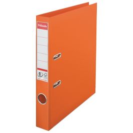 Biblioraft ESSELTE No. 1 Power, A4, plastifiat PP/PP, margine metalica, 50 mm - portocaliu