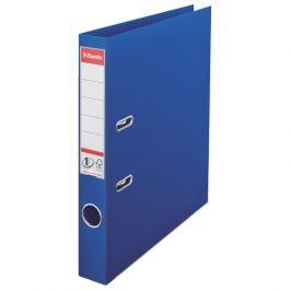 Biblioraft ESSELTE No. 1 Power, A4, plastifiat PP/PP, margine metalica, 50 mm - albastru