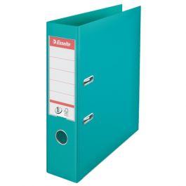 Biblioraft ESSELTE No. 1 Power, A4, plastifiat PP/PP, margine metalica, 75 mm - turcoaz